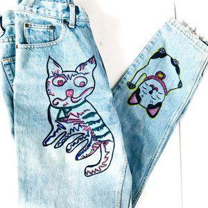 Eddie Bauer VTG Jeans Size 10 Andy Warhol Denim